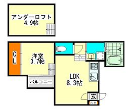JR中央本線 千種駅 徒歩10分の賃貸アパート 1階1SLDKの間取り