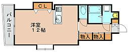 ロイヤルリバービュー143[3階]の間取り