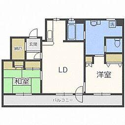南10西21マンション[2階]の間取り