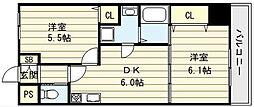 大阪府大阪市生野区生野東2丁目の賃貸マンションの間取り