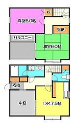 [テラスハウス] 東京都清瀬市元町2丁目 の賃貸【/】の間取り
