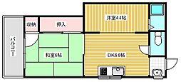 ダイキョーホームマンション[2階]の間取り