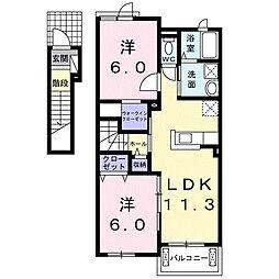 アバンツァートカーサA[2階]の間取り