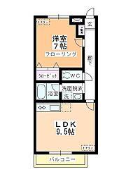 センタービレッジ鶴ヶ島[203号室]の間取り