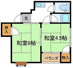 平野アークヒルズ[5階]の間取り