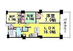 ジークレフ・ジオ神戸本山[2号室]の間取り