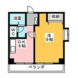 ホリホックイン八幡[6階]の間取り