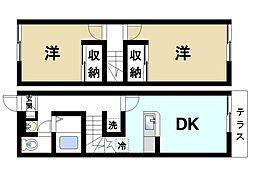 レオパレスTakuyaⅡ[1階]の間取り