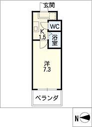 ラフォーレ竹山[2階]の間取り