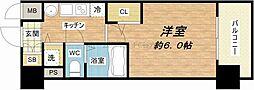 プレサンス上町台東平[8階]の間取り