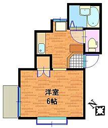 プルメリア[1階]の間取り