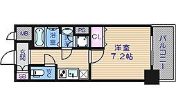 レジュールアッシュ天王寺[7階]の間取り