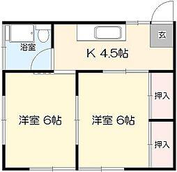 コーポ田村[105号室]の間取り