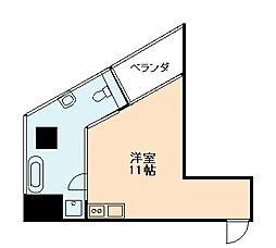 是空JYUSO[3階]の間取り