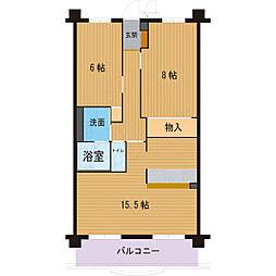 ハートフルマンション アークone[301号室]の間取り