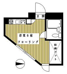 東京都世田谷区砧6の賃貸マンションの間取り