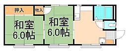 田村ルビーハイム[307号室]の間取り