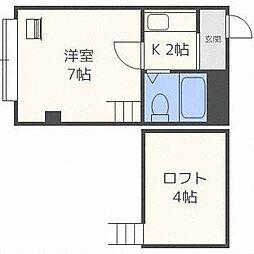 メモリー8・12[3階]の間取り