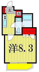 レオーネ綾瀬[201号室]の間取り