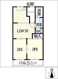 コーポセンゴウA[1階]の間取り