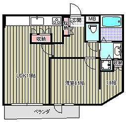 ライア[2階]の間取り
