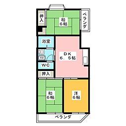 ニューライフ新川[2階]の間取り