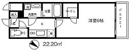 エスリード大阪城 [6階]の間取り
