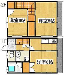 KCハイツ B棟[2階]の間取り