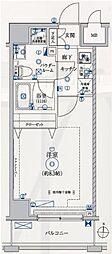 都営大江戸線 両国駅 徒歩7分の賃貸マンション 5階1Kの間取り