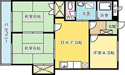 シャトレ津田新町[302号室]の間取り