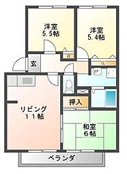 フォレストハイム誉田[2階]の間取り