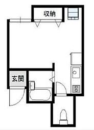 東京都港区白金6丁目の賃貸アパートの間取り