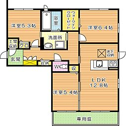 NADYAIII(ナディアIII)[1階]の間取り
