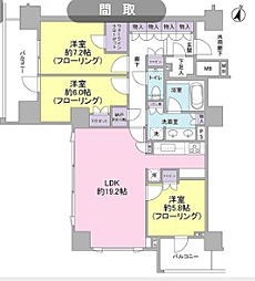 東京都渋谷区東4丁目の賃貸マンションの間取り
