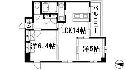 兵庫県伊丹市荒牧6丁目の賃貸マンションの間取り
