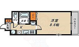ラナップスクエア大阪城北 6階1Kの間取り