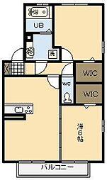 ルームケースリー C棟[1階]の間取り