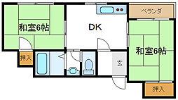 ガーデンヒル平野[2階]の間取り