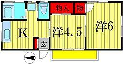 菱沼荘[2階]の間取り
