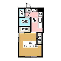 メゾンド大和[1階]の間取り