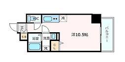 エスディーグランツ神戸大開通 4階1Kの間取り