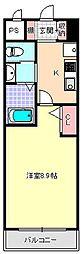 マンション芦紅[3階]の間取り