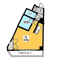 キャンパスシティ太宰府[3階]の間取り