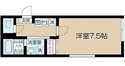 JR中央本線 吉祥寺駅 徒歩7分の賃貸マンション 1階1Kの間取り