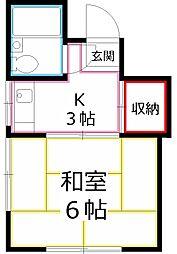 オロコダットII[2階]の間取り