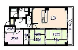 パークサイドTANAKA[3階]の間取り