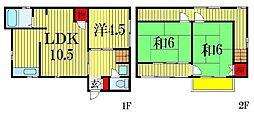 [一戸建] 千葉県船橋市飯山満町3丁目 の賃貸【千葉県 / 船橋市】の間取り