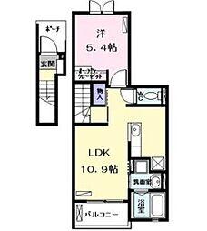 プレグサス小幡[2階]の間取り