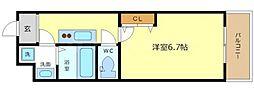 コンフォール中之島[2階]の間取り