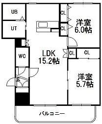 ライフ畔田[3階]の間取り
